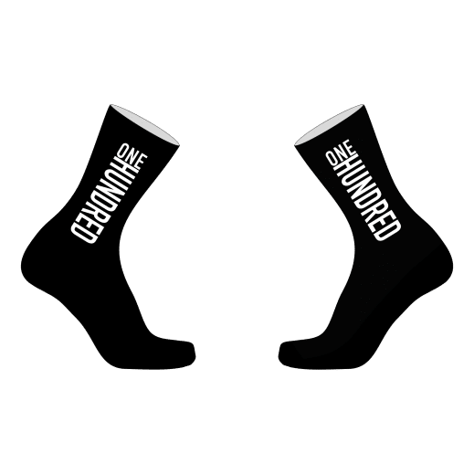 ONE/HUNDRED Socken Produktbild Schwarz/Weiß